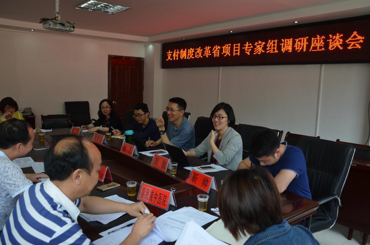 省项目专家组到我县进行县级公立医院支付制度改革座谈