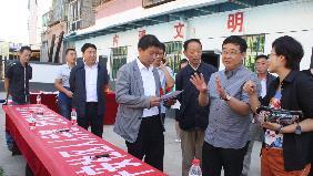 刘宝平书记在北关社区检查工作