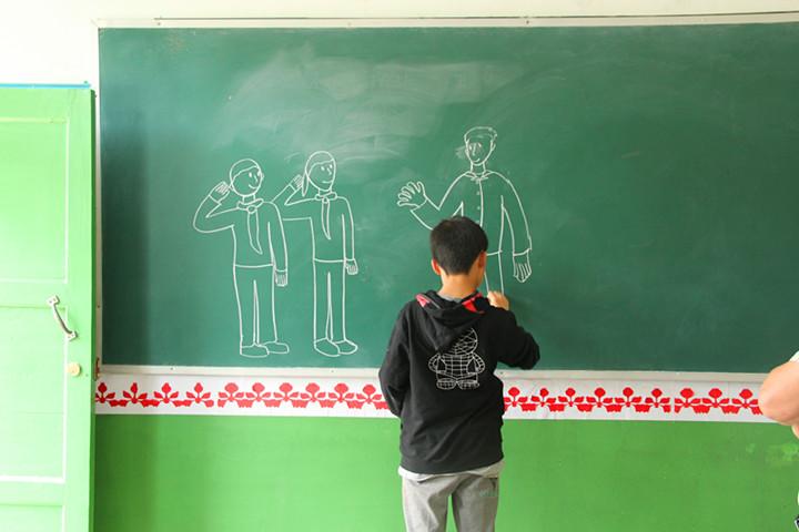 关于黑板的简笔画内容图片展示