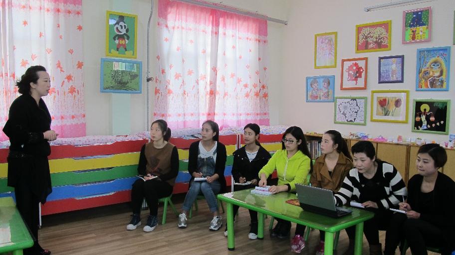 滨河路幼儿园举行ppt课件制作技巧
